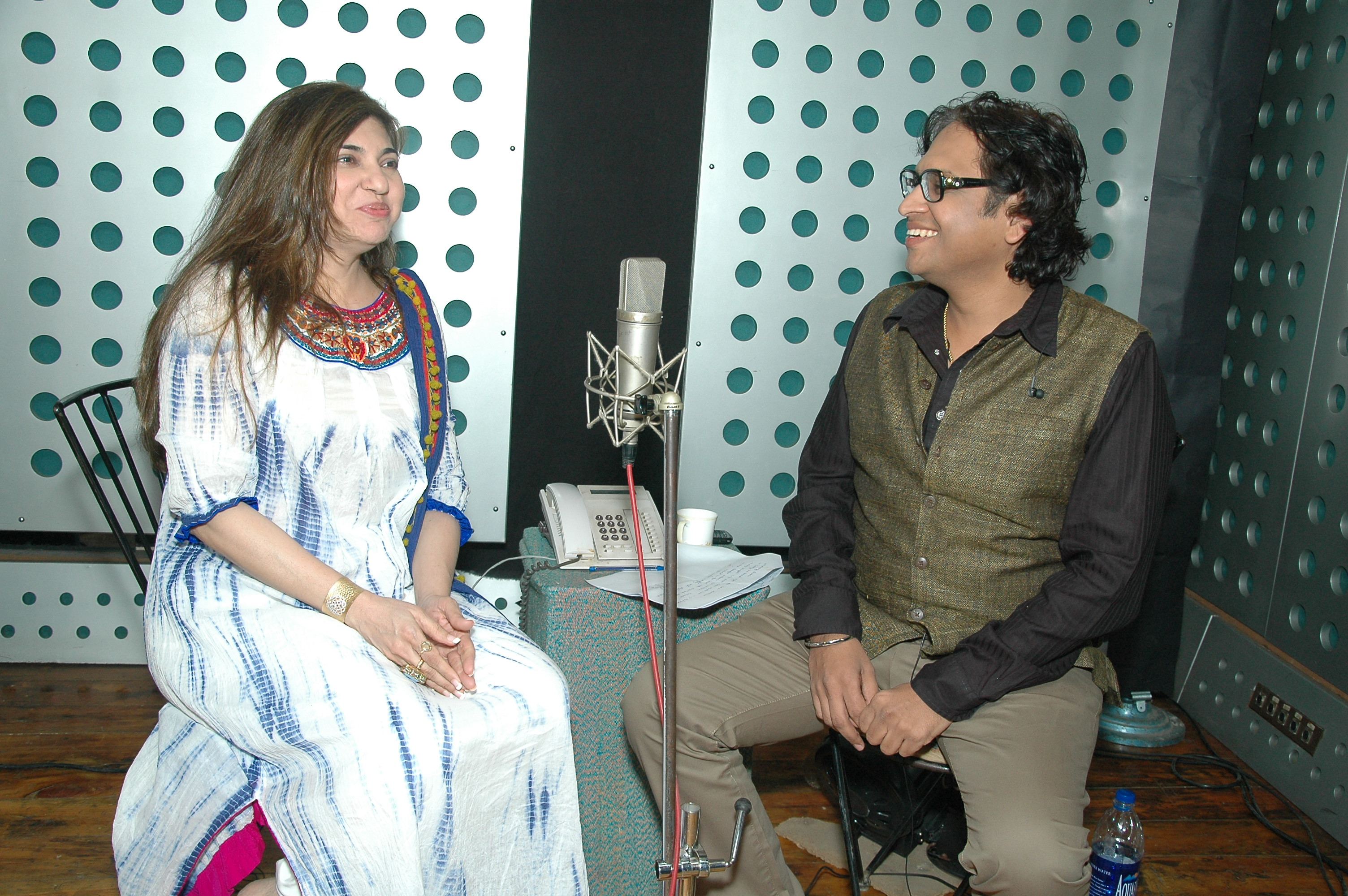with Alka Yagnik