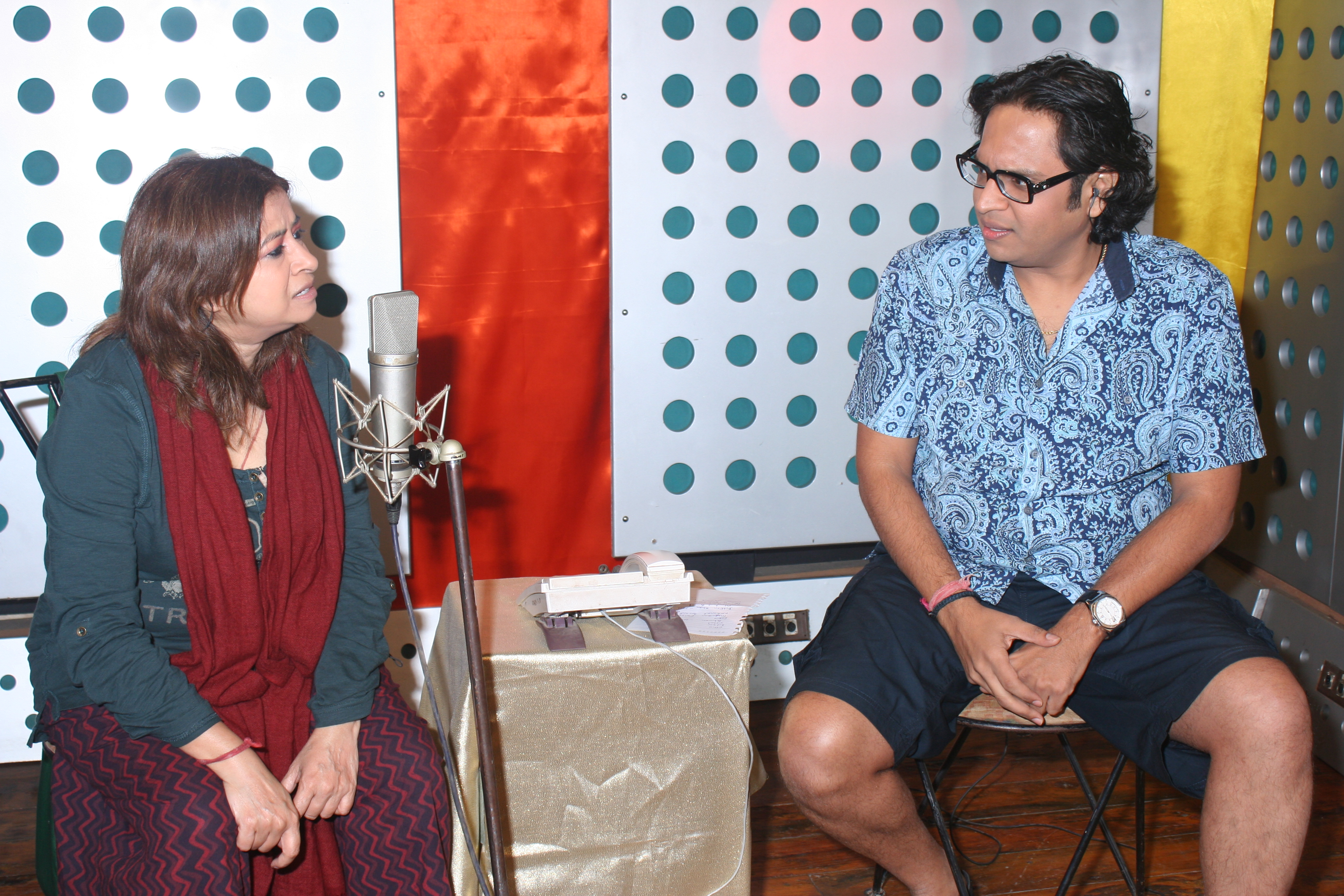 with Rekha Bhardwaj