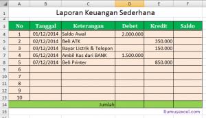 Laporan Keuangan Excel
