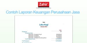 Laporan Keuangan Perusahaan Jasa