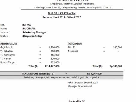 Keuntungan Membuat Aplikasi Slip Gaji Excel