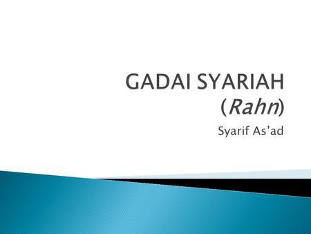 Mengenal Gadai Syariah