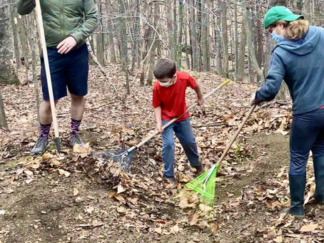 Family Trail Work Day on Mt Ascutney!