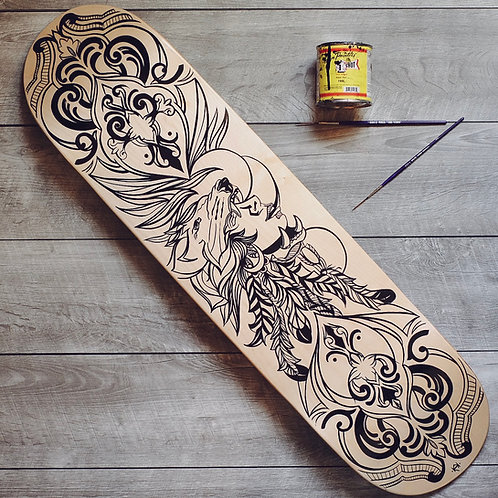 Lion Headdress - Skateboard Deck