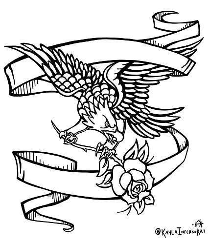 EAGLE Coloring-Book Page
