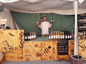 Met Stand am Mittelalterfest in Eggenburg