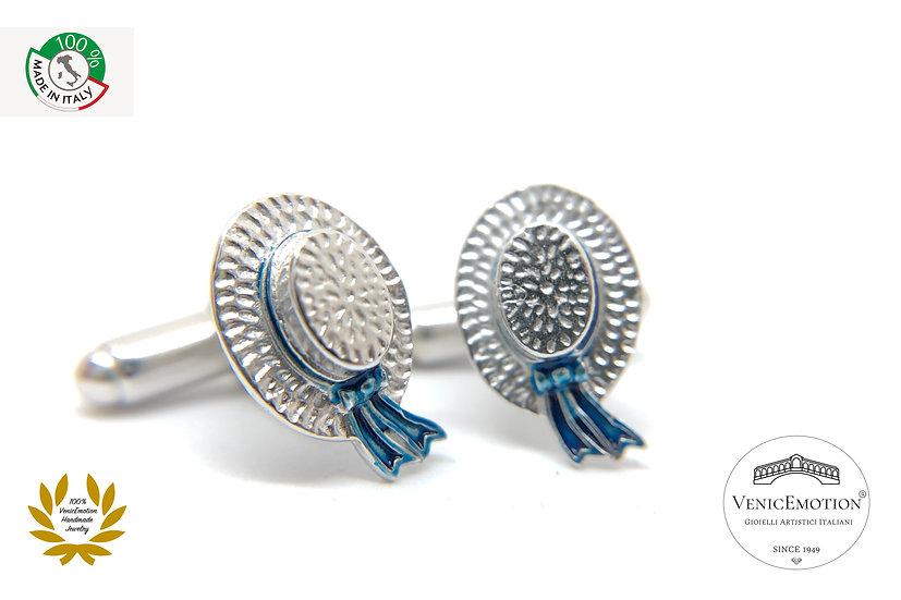 Gemelli con cappello del Gondoliere in argento 925