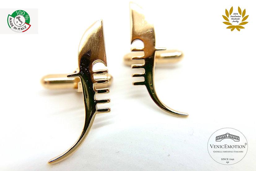 Gemelli in argento925 dorato con ferro di Gondola