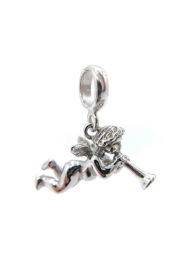 Pendente angelo cupido in argento 925.