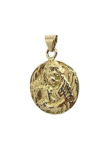 Ciondolo medaglia Leone di San Marco in Oro 18 Kt.