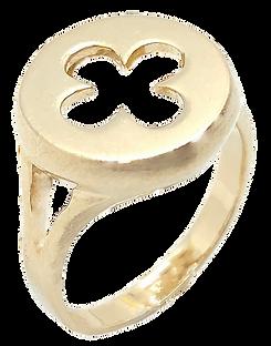 Anello in oro 18 Kt con rosone gotico fiorito Veneziano