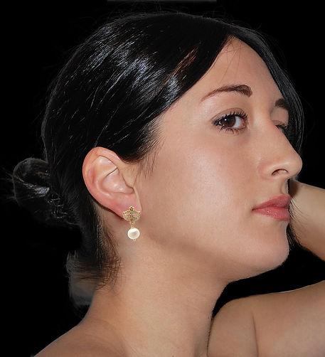 Colombina in argento 925 con perla naturale