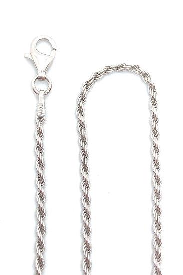 Collana mod. corda in argento 925