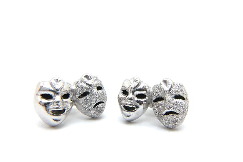 Comedia dell'arte mask earrings