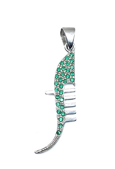 Ferro di gondola con zirconi verdi