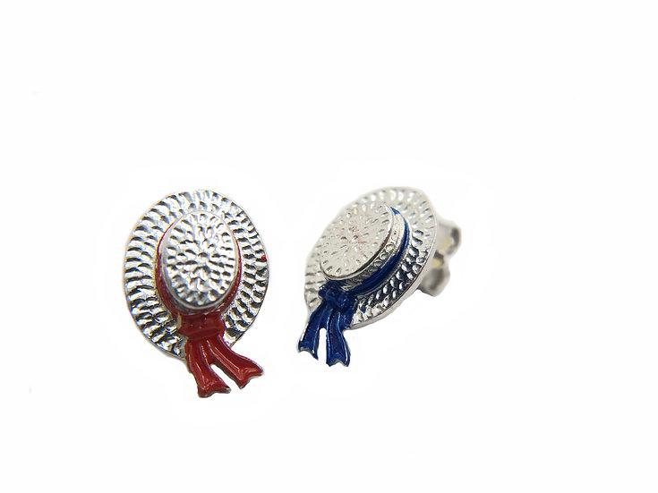 Orecchini cappello del Gondoliere veneziano, bicolore.