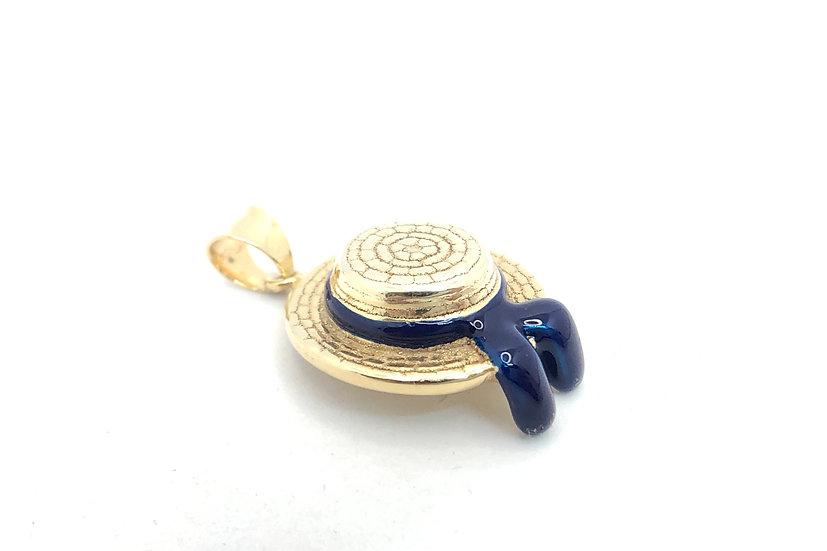 Ciondolo cappello del gondoliere in argento 925 dorato