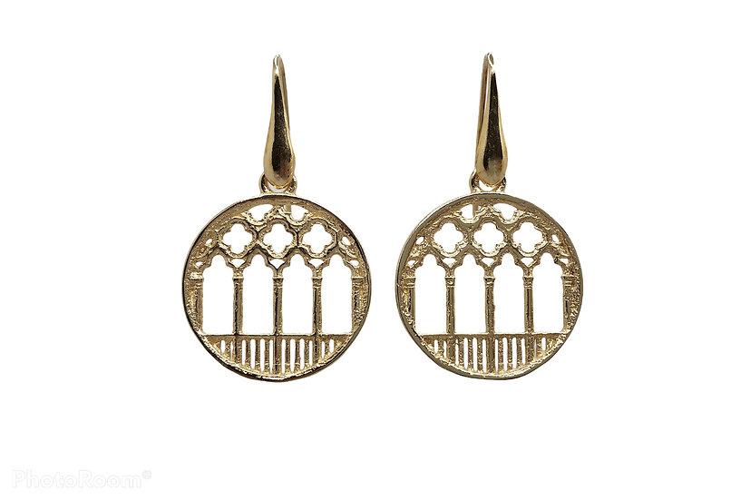 Orecchini pendenti Ca d'Oro  con geometria Gotica Fiorita Veneziana