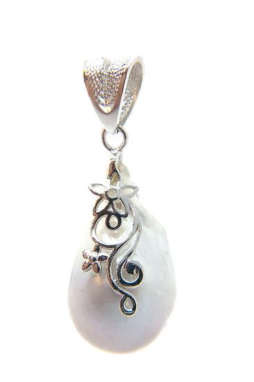 Pendente con perla barocca naturale