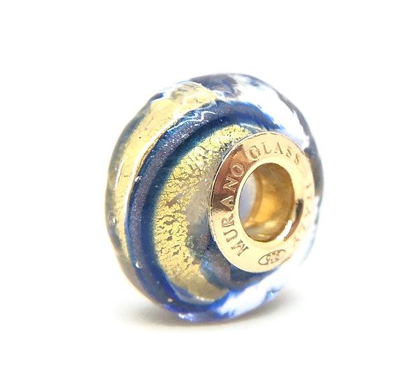 Perla preziosa in vetro di Murano originale