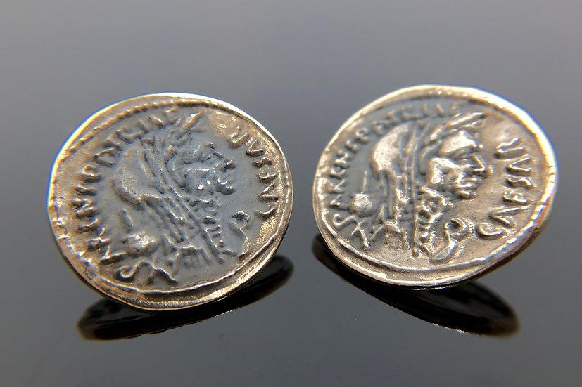Orecchini moneta romana