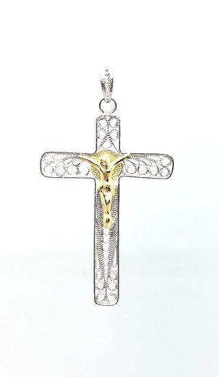 Pendente Croce in filigrana