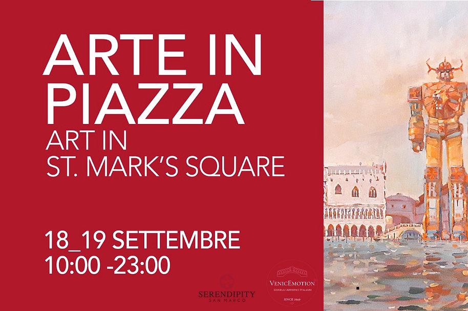 ARTE IN PIAZZA Evento arte e gioielleria 18-19 settembre 21 Piazza San Marco
