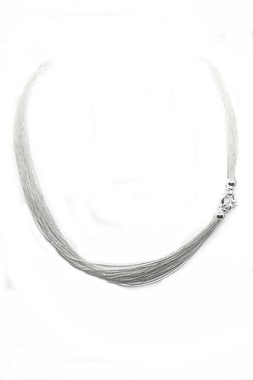 Collana Millefili in argento 925 brillante