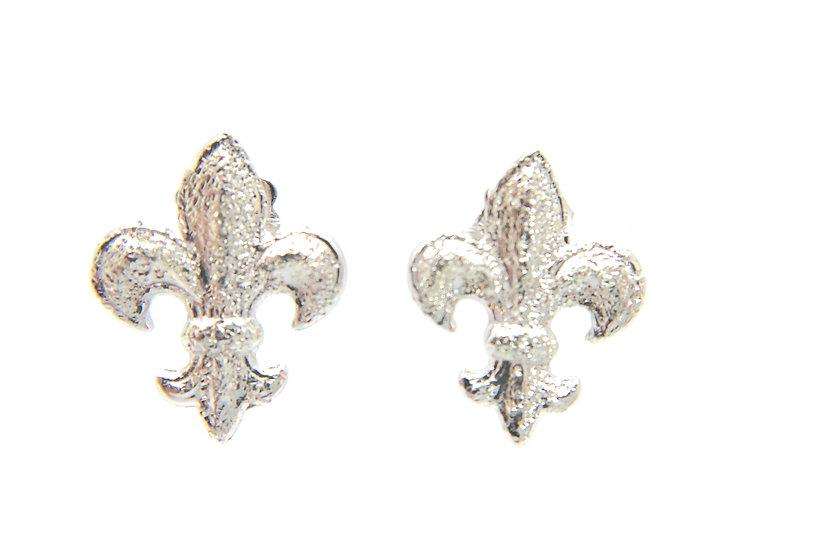 Giglio orecchini in argento 925 puntanti a diamante