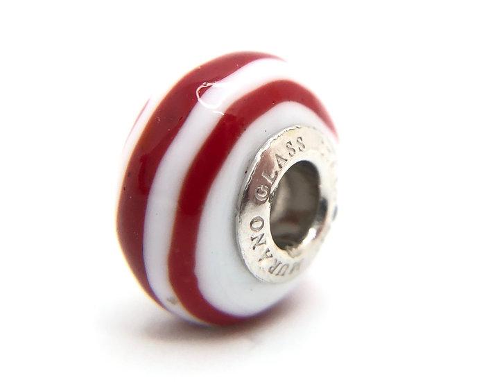 Perla preziosa in vetro di Murano originale a tema gondoliere