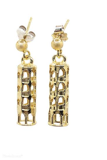 Orecchini Scala Contarini del Bovolo in argento 925 dorato