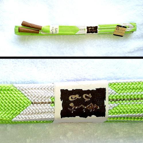 Arrow Flight Green & White Obijime