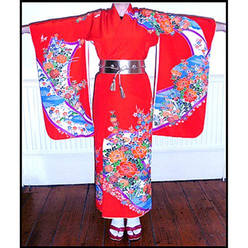 Floral Kicho Kimono