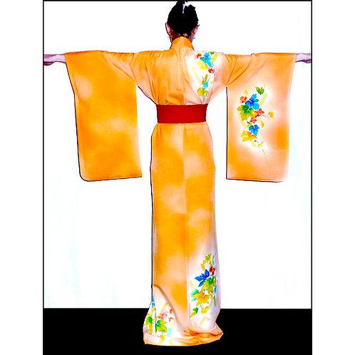 Charming Flower & Lattice Kimono
