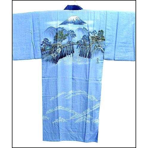Mountain & Bridge Naga-Juban Kimono