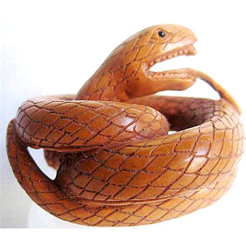 Coiled Snake Netsuke