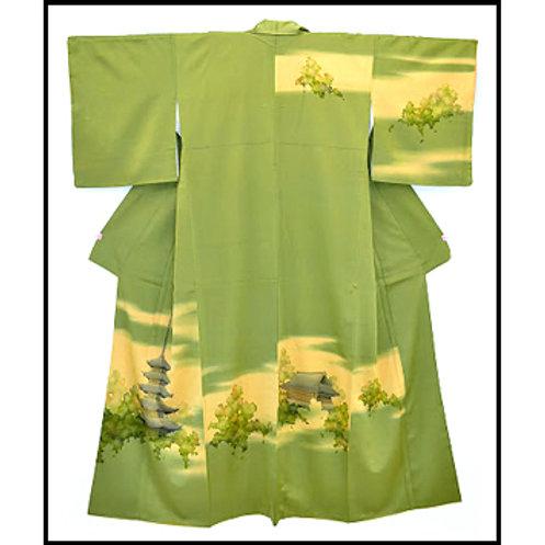 Kyoto Kiyomizu Temple Silk Kimono