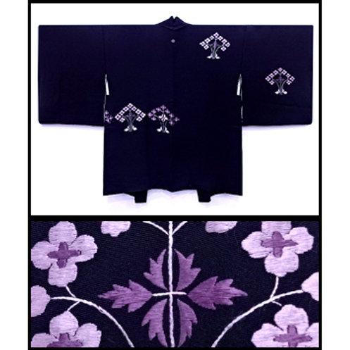 Embroidered Floral Design Haori