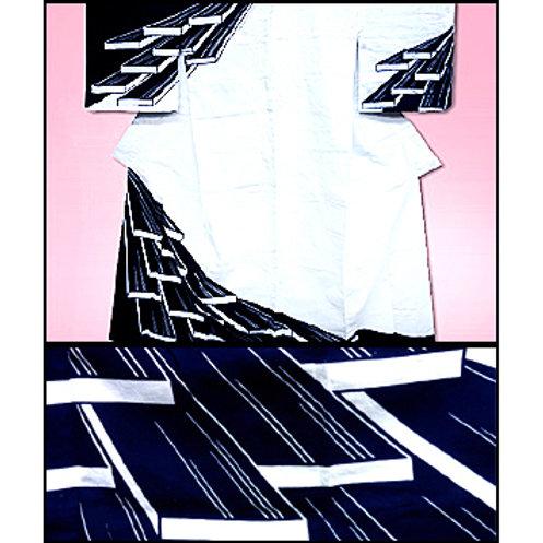 3D Planks Yukata Kimono