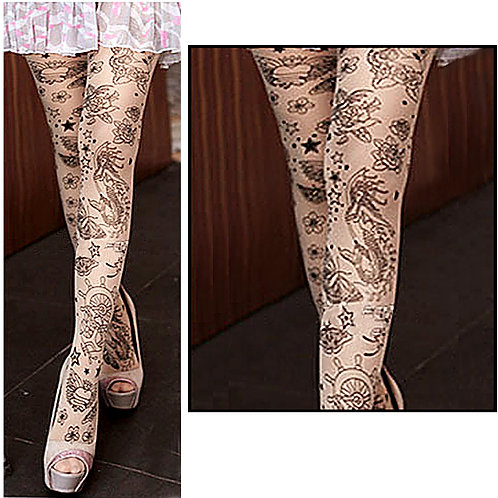 All Sailor Style Tattoo Tights