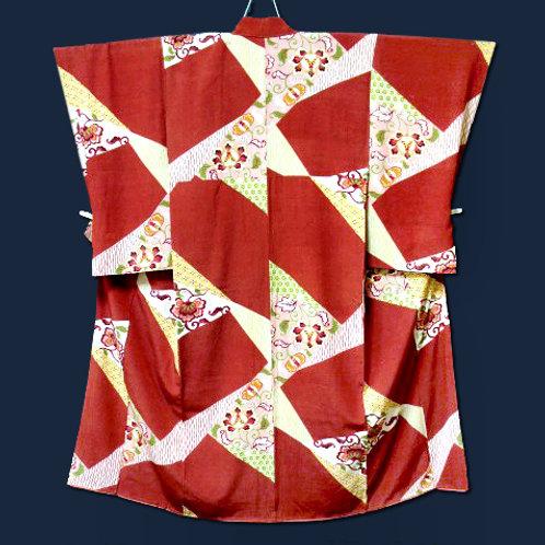Antique Wild Silk Kimono