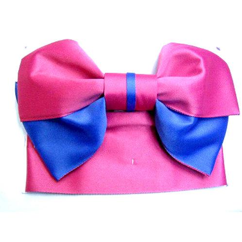 Pink Blue Bow 2 Part Obi