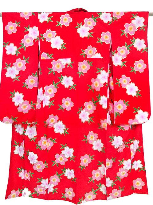 Plum Blossom Red Kimono