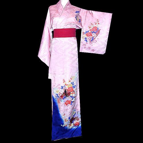 Pink Kimono  With Hime - Washable