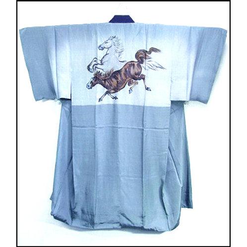 Lively Horses Naga-Juban Kimono