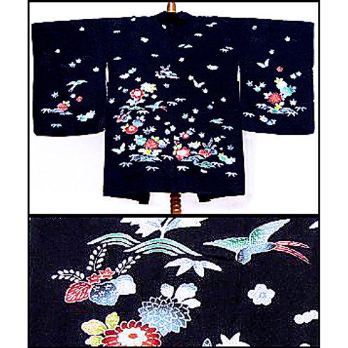 Birds, Flowers & Waves Haori