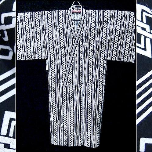 Black & White Chain Yukata Kimono