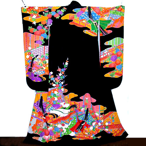 Heian Hime Design Hikizuri Kimono