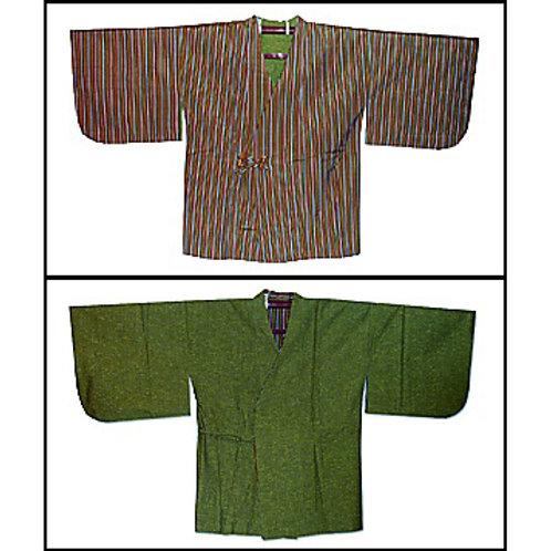Green & Stripes Reversible Dochugi