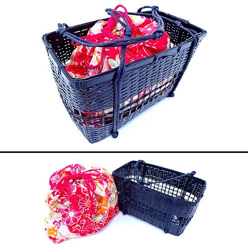 Takekago Kinchaku Bag - Kiku & Ume Blossom